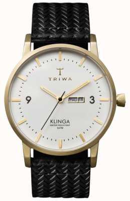 Triwa Unisex weißes Zifferblatt klinga mit Lederband KLST103-GC010113