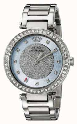 Juicy Couture Damen Silber Band runden silberfarbenen Zifferblatt 1901266