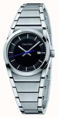 Calvin Klein Mens Schritt schwarzes Zifferblatt K6K31143
