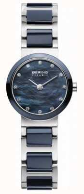 Bering Womens blaues Zifferblatt blau versilbert Gurt 10725-787