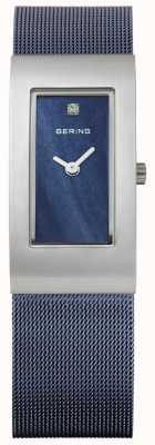 Bering Damen Rechteck blaues Zifferblatt 10817-307