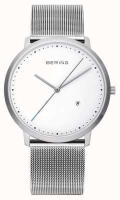 Bering Unisex Silber Band weißes Zifferblatt 11139-004