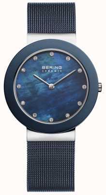 Bering | blaues Armband für Damen blaues Zifferblatt | 11435-387