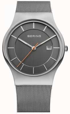 Bering Mens grau Band Zifferblatt grau 11938-007
