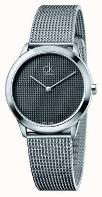 Calvin Klein Minimal Milanaisearmband schwarzes Zifferblatt K3M2212X