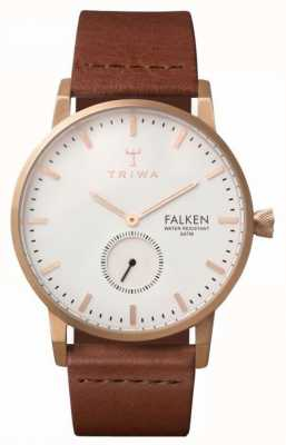 Triwa Unisex falken braunes Lederband weißes Zifferblatt ex Display FAST101-CL010214EX-DISPLAY
