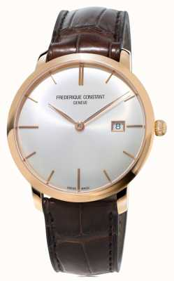 Frederique Constant Männer slimline automatische braunes Lederarmband FC-306V4S4