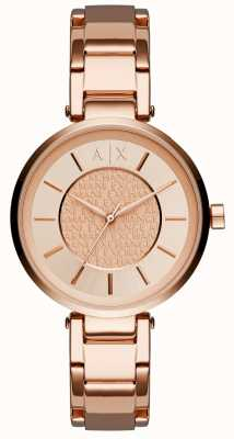 Armani Exchange Frauen Roségold PVD beschichtet Rose Wahl AX5317