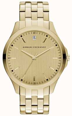 Armani Exchange Mens hampton schlankes Gold Wahl AX2167