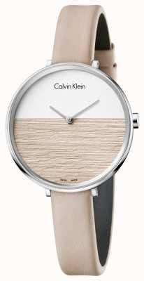 Calvin Klein Frauen steigen beige Lederarmband beige Wahl K7A231XH