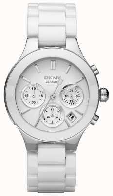 DKNY Womans weiß Chronograph Zifferblatt weiß Gurt NY4912