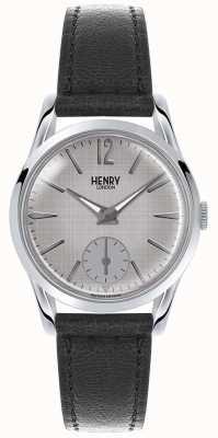 Henry London Womans grau Zifferblatt grau Lederband HL30-US-0073