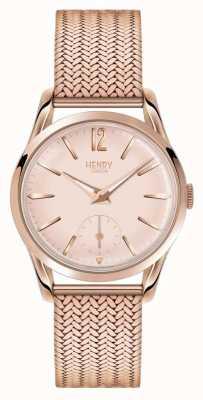 Henry London Womans Rotgold Zifferblatt Rotgold Maschenband überzogen HL30-UM-0164