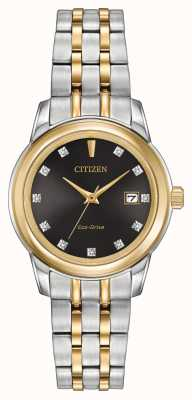 Citizen Damen 11 Diamanten zwei Ton-Edelstahl EW2394-59E