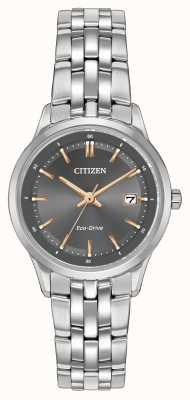 Citizen Damen Uhr aus Edelstahl mit Saphirglas EW2400-58H