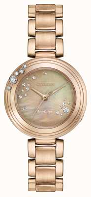 Citizen Damen Eco-Drive sechs Diamanten vergoldet EM0463-51Y