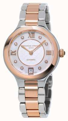 Frederique Constant Womens Klassiker erfreuen Diamant zwei Ton FC-306WHD3ER2B