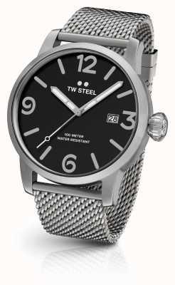 TW Steel Mens Einzelgänger Maschenband Zifferblatt schwarz MB11