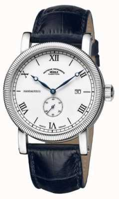 Muhle Glashutte Teutonia iii handaufzug kleine sekunde Lederband weißes Zifferblatt M1-08-11-LB