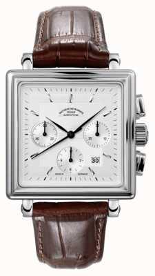 Muhle Glashutte Teutonia II Quadrant Chronograph Lederband Silberzifferblatt M1-33-35-LB