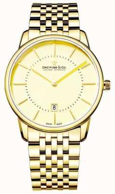 Dreyfuss Herren Goldarmband mit Datum | goldenes Gesicht | DGB00136/03