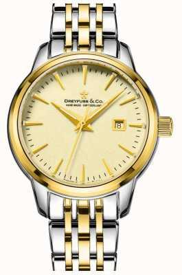 Dreyfuss 1890 - dreyfuss Damen zwei Ton vergoldet Uhr DLB00126/03