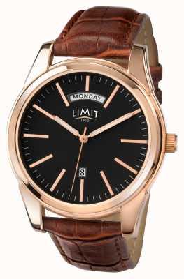 Limit Mens braun Gurt schwarzes Zifferblatt 5484.01