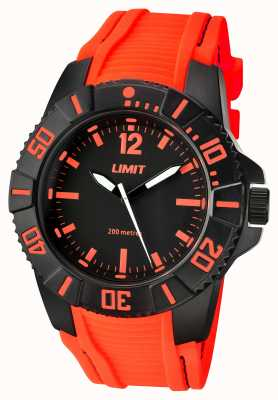 Limit Herren aktives orange Band schwarzes Zifferblatt 5547.02