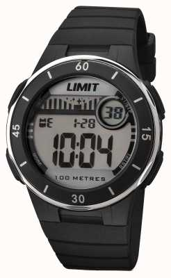 Limit Unisex schwarzes Band digitales Zifferblatt 5556.24