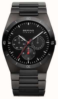 Bering Mens schwarz ip überzog schwarzes Zifferblatt 32341-792
