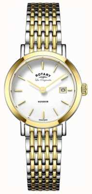 Rotary Womans windsor zwei Ton Silber Gold Metallband LB90154/01