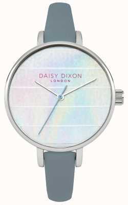 Daisy Dixon Frauen kylie blau Lederband mehrfarbig Zifferblatt DD024US