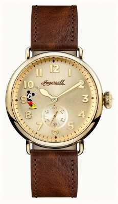 Disney By Ingersoll Mens union das trenton disney limited edition braunes leder ID01201