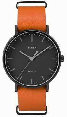 Timex Unisex Weekender Fairfield schwarzes Zifferblatt TW2P91400