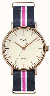 Timex Womans Weekender fairfax Marine rosa Gurt TW2P91500