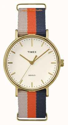 Timex Unisex Weekender fairfax orange-braun Gurt TW2P91600