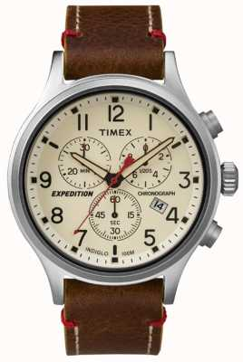 Timex Mens Scout Chronograph Creme Wahl TW4B04300