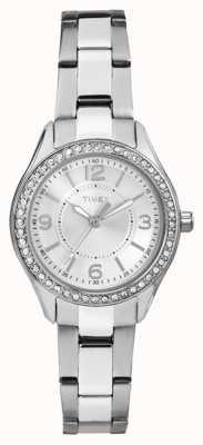 Timex Womans miami mini Silber Edelstahlarmband silberfarbenes Zifferblatt TW2P79800