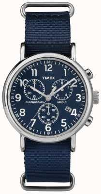 Timex Unisex weekender Chronograph marineblau TW2P71300