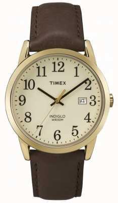 Timex Cremefarbenes Lederarmband für Herren mit einfachem Lesegerät TW2P75800