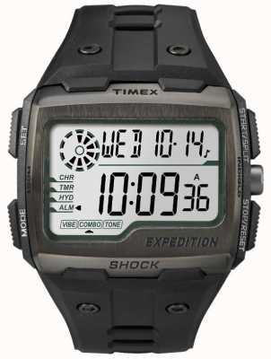 Timex Mens Gitter Schock Alarm-Chronograph alle schwarz TW4B02500