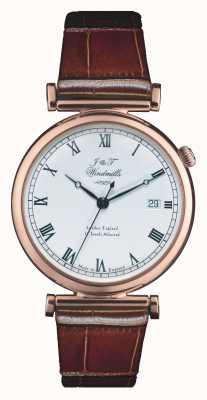 J&T Windmills Mens bartholomew mechanische Roségold Uhr WGS50001/01