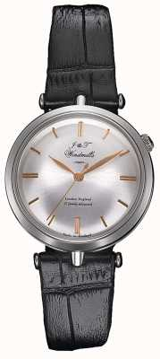 J&T Windmills Womans THREADNEEDLE mechanische Uhr Silber Rotgold WLS10001/06