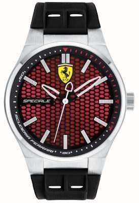 Scuderia Ferrari Mens speciale schwarzes Gummiband rotes Zifferblatt 0830353