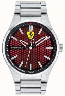 Scuderia Ferrari Mens speciale Edelstahl Armband rotes Zifferblatt 0830357