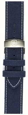 Elliot Brown Mens 22mm gewaschen blau Leinwand deployant Gurt nur STR-C01