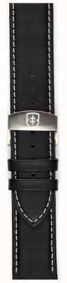 Elliot Brown Mens 22mm schwarz geölter Leder Futterriemen nur STR-L02