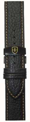 Elliot Brown Mens 22mm schwarzer Kiesel-Leder-Futter-Zapfenstich STR-L11