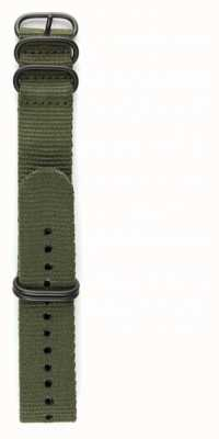 Elliot Brown Mens 22mm oliv ballistisches Nylon Gunmetal Hardware Strap nur STR-N01
