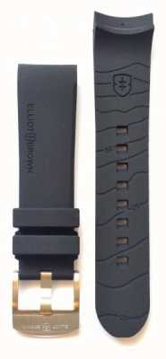 Elliot Brown Mens 22mm schwarze Gummi-Zunge Gürtelschnalle nur STR-R01